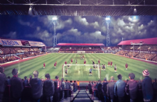 Middlesbrough - Remembering Ayresome Park - 20'' x 30'' Box Canvas